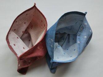 袋ハンカチ アニマル 2枚組 の画像