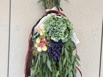 セール ラベンダーと紫陽花ブーケの画像