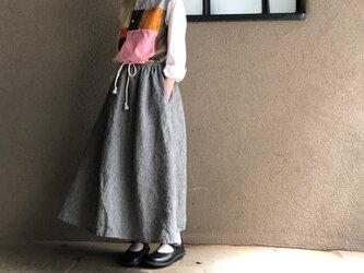 千鳥リネン スカートの画像