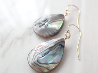 K14GF abalone shell pear shape pierceの画像