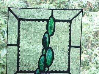 ステンドグラス  グリーンの画像