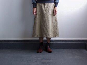 original cotton twill/baker skirt/sandbeigeの画像