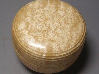 楓玉杢材 小筥 ミニ食籠 ガラスコート仕上げ の画像