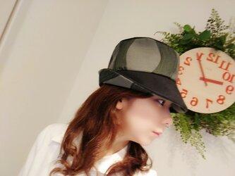 【三河木綿シリーズ】<和テイストのビックシルエットハット> クロッシェ  波 シック メンズ レディース  ユニセックスの画像