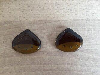 栗のお箸置き(2客)の画像