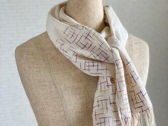 王様のストール 絣 手織り コットンの画像