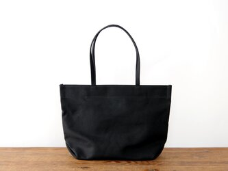 《Canvas》Simple tote Bag ブラックの画像