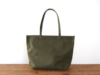 《Canvas》Simple tote Bag カーキの画像