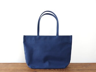 《Canvas》Simple tote Bag ネイビーの画像