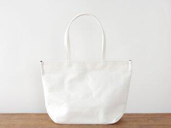 《Canvas》Simple tote Bag オフホワイトの画像