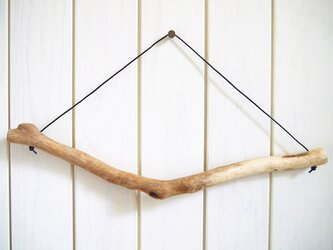選べる本革ひも 流木ハンガー [L:約41.5cm] #075の画像