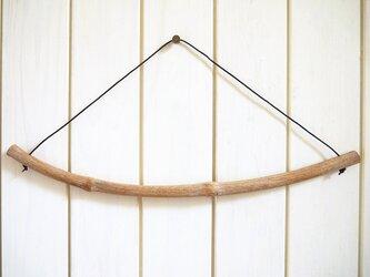 選べる本革ひも 流木ハンガー [L:約43cm] #076の画像