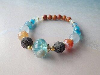 Under the Sea* Lava Stone Diffuser Bracelet☆アロマブレスレットの画像