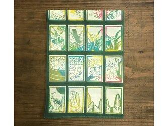 手ぬぐい[花札]深緑の画像