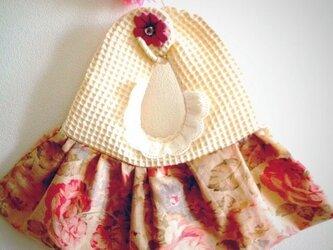 【送料無料】ふんわり立てのワンピースお花柄スタイ♪(Sold)の画像