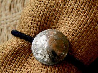 #H73 France Coin Hair Elasticの画像