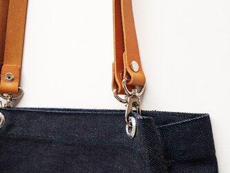 オプション:マスタードの革の持ち手へ変更+500円の画像