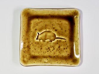 アルマジロ角皿  飴2の画像