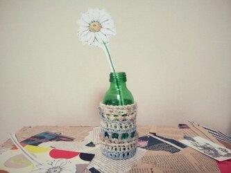 ペーパーフラワーと一輪挿し*knit spring BLの画像