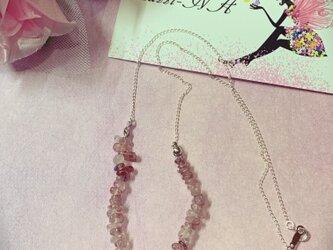 ピンクエピドートネックレス♡シルバー925の画像