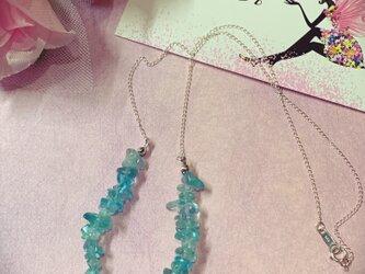 ブルーアパタイトネックレス♡シルバー925の画像