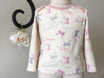 淡カラーリボンミックス・長袖Tシャツの画像