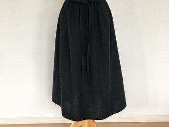 リボン ギャザースカートの画像