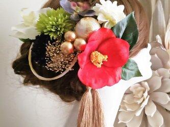 花雅 江戸椿とダリアの水引飾りの12点Set No603の画像