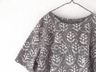 砂漠の花・木版更紗のふわっとAラインの画像