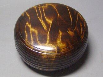 栃斑杢材 盛ミニ食籠 蘇芳染め ガラスコート仕上げ の画像