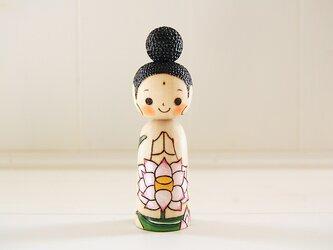 [conocokeshi]仏像こけし*祈り*蓮の華[118]の画像