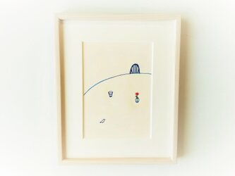 「やさしい時間」 イラスト原画 ※額縁入りの画像