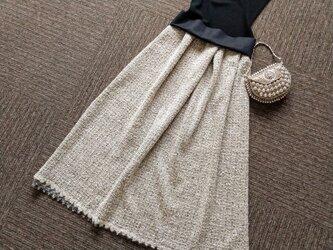 ★一点物★デンマーク老舗生地屋ITAのツィード・スカロップの裾飾り★受注製作★の画像