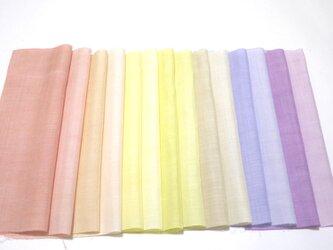 (F-2)正絹胴裏 手染め14枚 はぎれセット マカロンカラー★ 吊るし飾りにや手芸にの画像