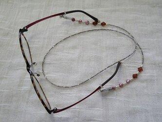 淡水パールの眼鏡ストラップ(送料無料)の画像