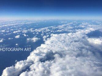 SKY W001   空 雲の上 青 地球 EARTH  宇宙 UNIVERSEの画像