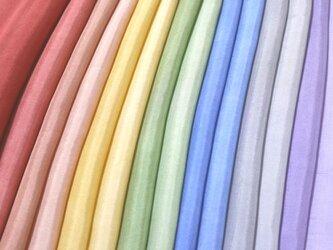(P)正絹 胴裏 手染め14枚 はぎれセット 大人色 つまみ細工用布・吊るし飾りにの画像