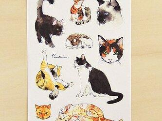 シール 猫の画像