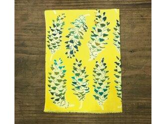 手ぬぐい[松ぼっくり/ストローブ松]黄色の画像