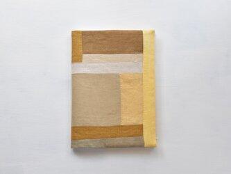 B5ノートカバー|草木染め モダンキルトのノートカバー#08の画像