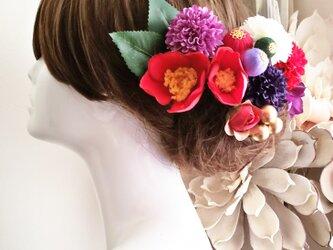 花kIrari 椿とponpon和ボール13点Set No605の画像