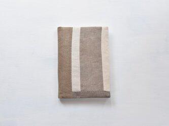 A5ノートカバー|草木染め モダンキルトのノートカバー #05の画像