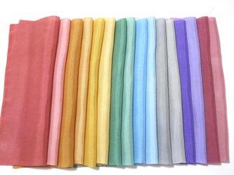 (R)正絹 胴裏羽二重 手染め16枚 はぎれセット 紫系 ★ つまみ細工用生地の画像