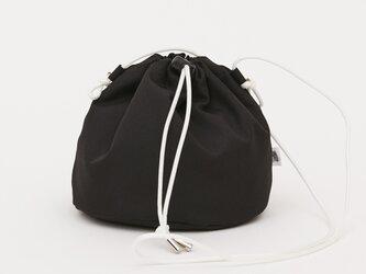 ポリエステルオックス/巾着ショルダー「Ox/P effects」 (Black)の画像