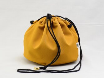 ポリエステルオックス/巾着ショルダー「Ox/P effects」 (Mustard)の画像