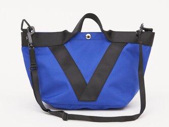 ポリエステルオックス/2wayトート「Ox/French tote  S」 (Blue)の画像