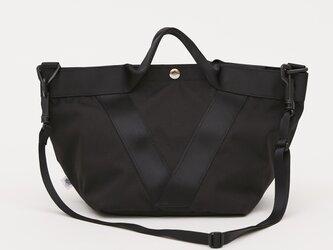 ポリエステルオックス/2wayトート「Ox/French tote  S」 (Black)の画像