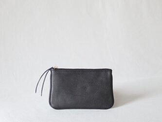 レザーウォレット コインポケット付 ミニサイズ 総手縫の画像