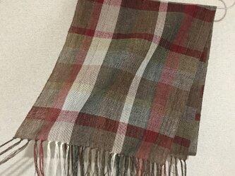 手織りストール A29の画像