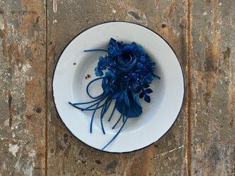 ー青⚪︎青⚪︎青ー。。。suMire-bouquet布花コサージュ。の画像